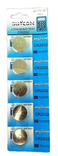 Bateria CR2032 3v Cartela C/ 5 Unidades