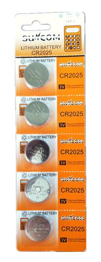 Bateria CR2025 3v Cartela C/ 5 Unidades