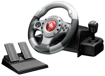 VOLANTE USB/PS2/PS3 - 12 BOTÕES COM PEDAL E CAMBIO 16014