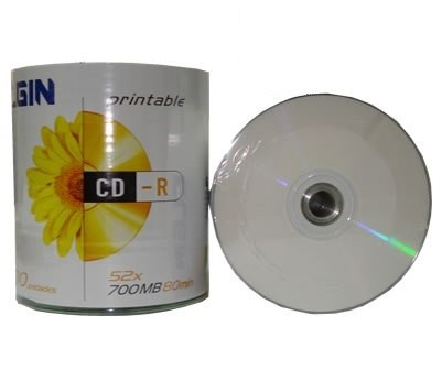 CD-R Elgin Printable 700MB 52X C/ 100 unidades