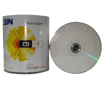 CD-R Elgin Printable 700MB 52X C/ 100 unidades