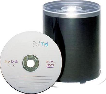 DVD-R Ntm C/ logo 100 unidades