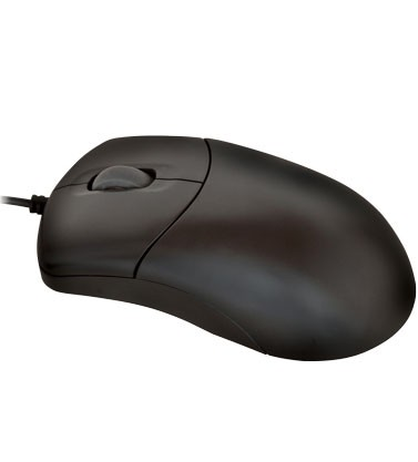 Mouse Esfera com Scroll PS/2 Preto Unicoba