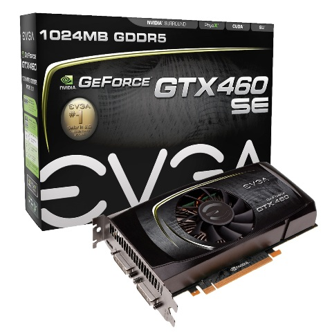 Placa de Vídeo EVGA GeForce GTX 460 SE NVIDIA PCIe 2.0 1024MB 256b GDDR5