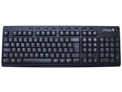 Teclado USB Wisecase WSKB-0003 Preto