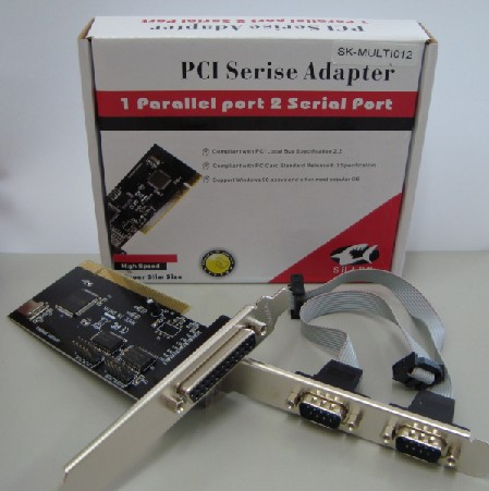 Placa Multi I/O PCI  2 Seriais + 1 Paralelo