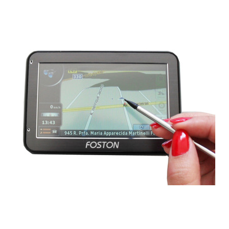 GPS Foston FS-441B Preto Bluetooth