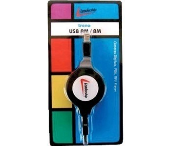 Cabo Retratil USB Am/bm Leadership 1384
