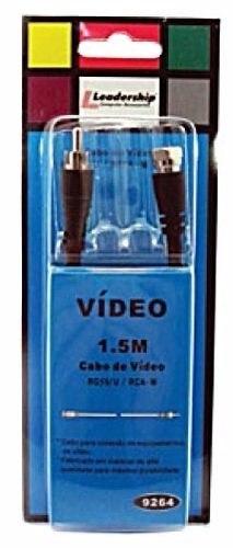 Cabo De Vídeo Rg 59-U/ Rca-m Leadership 9264 1.5 Metros