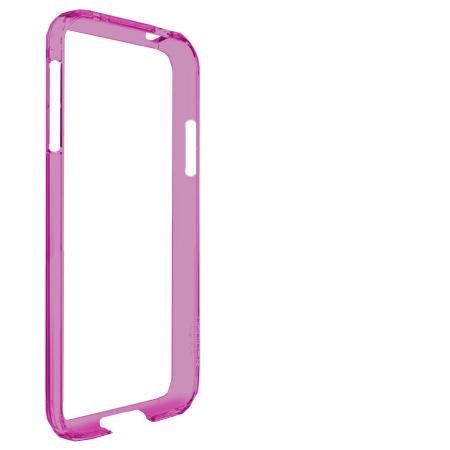 Bumper Case Galaxy S4 Rosa Transparente
