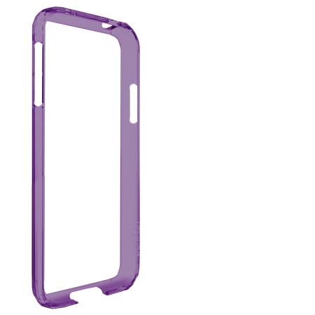 Bumper Case Galaxy S4 Roxo Transparente