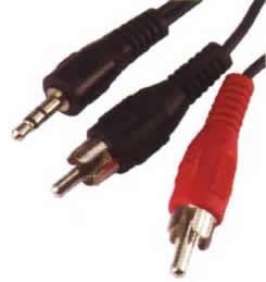Cabo de Áudio P2 X P/ 2 Rca Stéreo