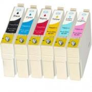 Kit Cartuchos Compatíveis Epson  STYLUS C67/C87/CX3700/CX4700 Cyan 821 822 823 824 825 826