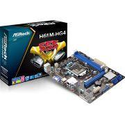 Placa Mãe Intel DDR3 ASRock H61M-HG4 1155