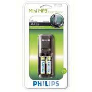Carregador de Pilhas Philips c/ 2 pilhas AAA
