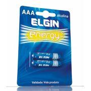 PILHA ALCALINA AAA ELGIN LR03 C/ 2
