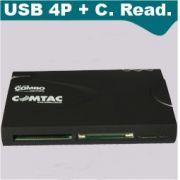 Hub 3 Portas USB 2.0 + Leitor Cartões Comtac