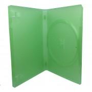 Estojo Capa Dvd Box Verde Grosso- Caixa C/100 Unidades
