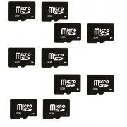 Kit com 10 Cartões de Memória Micro SD 2GB OEM