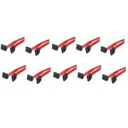 Kit 10 Cabos Dados Sata 50cm Pc-cbst03 180/90 - 90 Graus Plus Cable