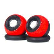 Caixa de Som Redonda FY-116 USB 6W Vermelha