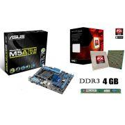 Kit Placa Mãe Asus M5a78l-M LX/BR + Processador AMD FX 6300 Six Core + 4GB Ram Kingston