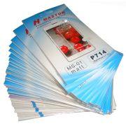 kit 32 Películas  Protetora de Tela Plastico LG Optimus L7 II P714