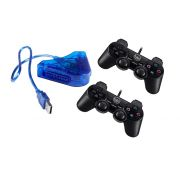 Kit  2 Joystick p/ ps2 e Conversor PC USB