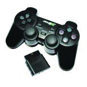 Joystick Controle Sem Fio Play2 FX-JOYPS2-W Pro50 Preto