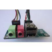 Placa Conector Áudio e USB P/ Gabinete 03
