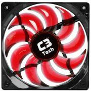 Cooler Fan Led Vermelho C3 Tech F9-L100RD Storm 12cm