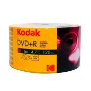 DVD+R Kodak 16x 4.7GB 120min 50 Unidades