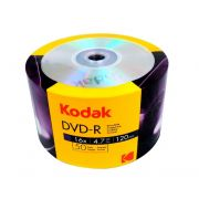 DVD-R Kodak 16x 4.7GB 120min 50 Unidades