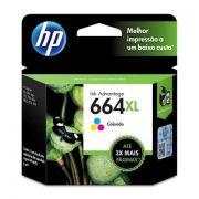 Cartucho HP 664xl Colorido Impressora Deskjet Ink Advantage 1115 2136 3636