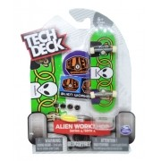 Tech Deck Mini Skate de Mão Multikids Alien Workshop Series 4 Green BR263