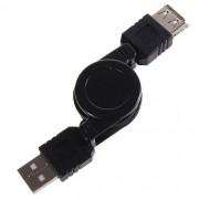 25  Cabo Extensor USB Macho x USB Fêmea Retrátil - 40cm