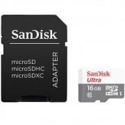 Cartão de Memória SanDisk Micro SD 16GB Ultra Classe 10 48MB/s SDSQUNB-016G-GN3MA