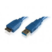 Cabo USB 3.0 SuperSpeed  p/ HD Externo 50cm Azul