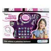 Ateliê Pulseira My Style Beauty Charms Rosa Br420 Multikids