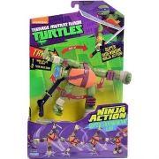 Boneco Tartarugas Ninja Action Leonardo Multikids BR286