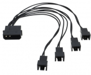 Cabo Adaptador Multi Fan Molex P/ 4 Coolers 3 Pinos 12v