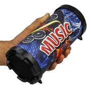 Caixa Caixinha De Som Bluetooth Portátil CMIK P2 Fm Guitar