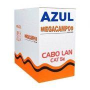 Caixa De Cabo Rede Azul Cat5e 300m Mega Cable