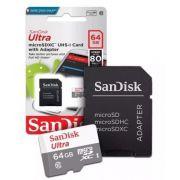 Cartão De Memória Sandisk  64gb Classe 10 SDSQUNS-064G