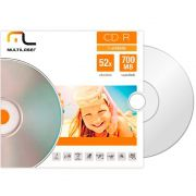 CD-R Multilaser 700 MB 80 MIN 52X (Envelope) Pack C/ 100 Unidades