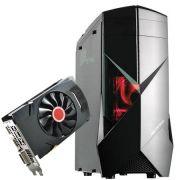 Computador CPU Top Gamer Amd Ryzen 3 2200G 3.5Ghz 8GB DDR4 HD 1TB RX560 4GB Fonte 500W 80 Plus