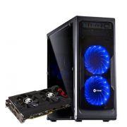 Computador CPU Top Gamer Amd Ryzen 5 1400 3.2Ghz 8GB DDR4 HD 1TB DVD-RW RX570 4GB Fonte 600W real