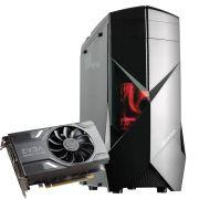 Computador CPU Top Gamer Amd Ryzen 5 1600 3.2Ghz 8GB DDR4 HD 1TB GTX 1060 3GB Fonte 500W 80 Plus