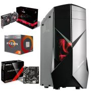 COMPUTADOR GAMER AMD RYZEN 3 2200G 3.5GHZ QUAD CORE 8GB RAM 2400MHZ RX580 8GB 1TB SSD120