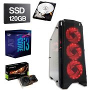 Computador Gamer CPU Intel Core I3 8100 3.6GHz 8GB DDR4 SSD 120GB HD 1TB 1050TI 4GB